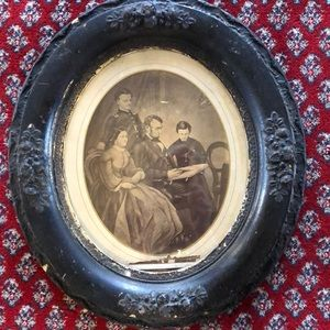 """Antique """"The Lincoln Family """" picture"""